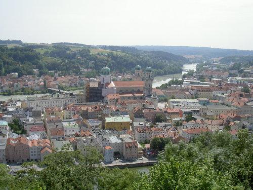 Passau: Blick vom Oberhaus z.Stephansdom