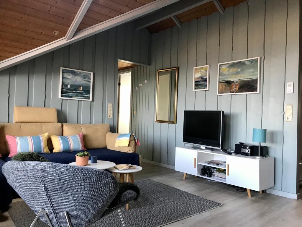 Wohn-Essraum mit neuem Morsoe-Kamin