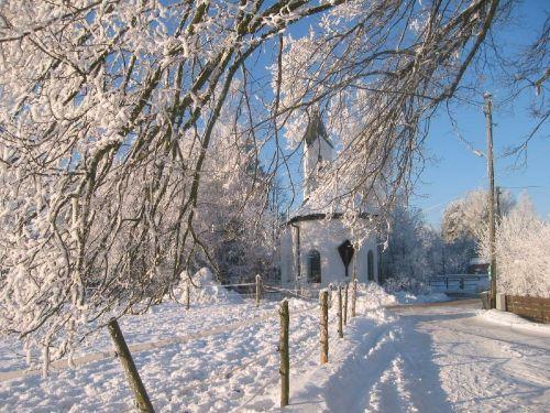 Ilchinger Kapelle im Winter