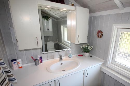 Modernes neues Bad mit Duschecke