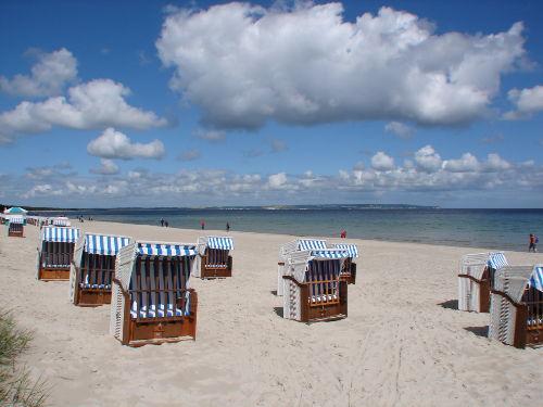 Blick auf den Binzer Strand
