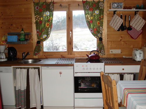 Küche mit Feldblick