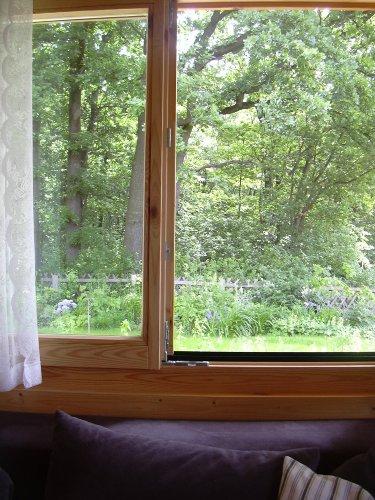 Traumhafter Ausblick zum Garten und Wald