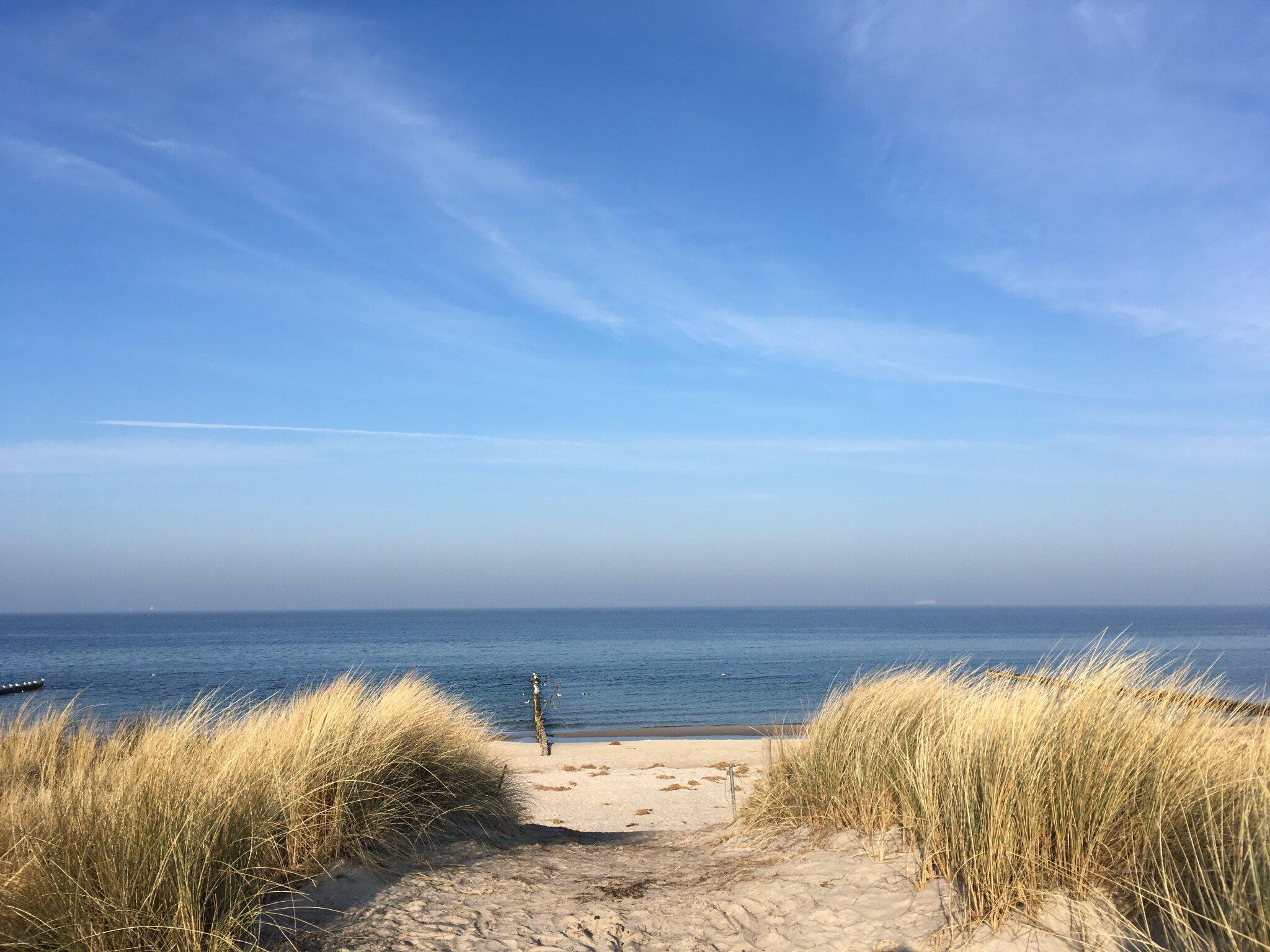 Der Strandaufgang von Markgrafenheide