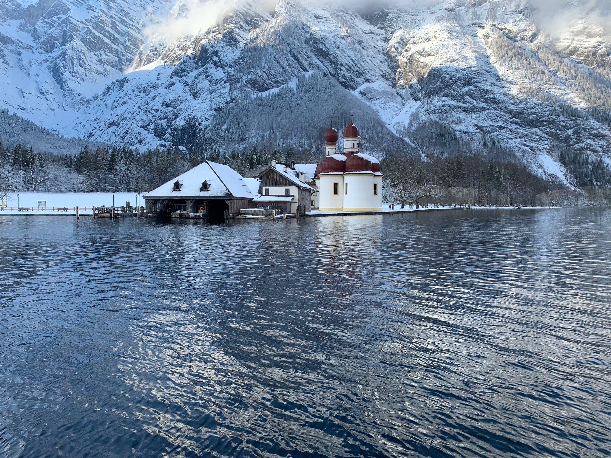 Wintertraumlandschaft mit Watzmann