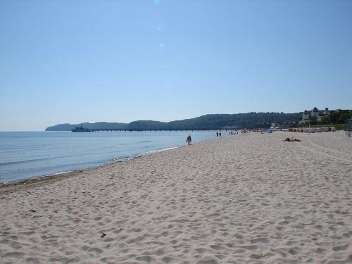 Blick nach rechts von unserem Strand