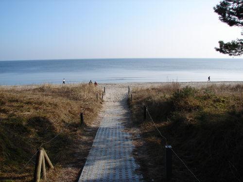 Unser Strandabgang