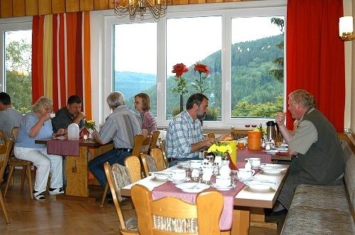 Frühstücksraum in der Pension