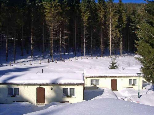 Ferienhäuser am Waldesrand, Winter