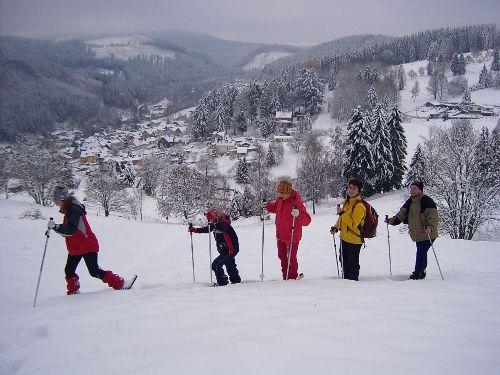Ski fahren bei Manebach