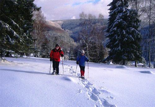 Schneeschuhwandern im Thüringer Wald