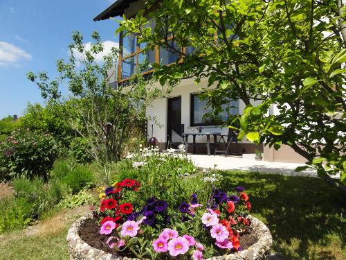 Terrase mit Blumen