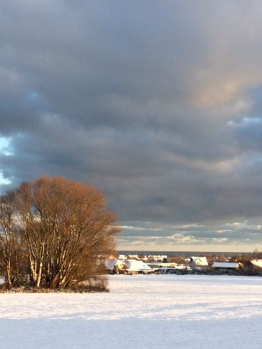 Aussicht auf K�hlungsborn im Winter