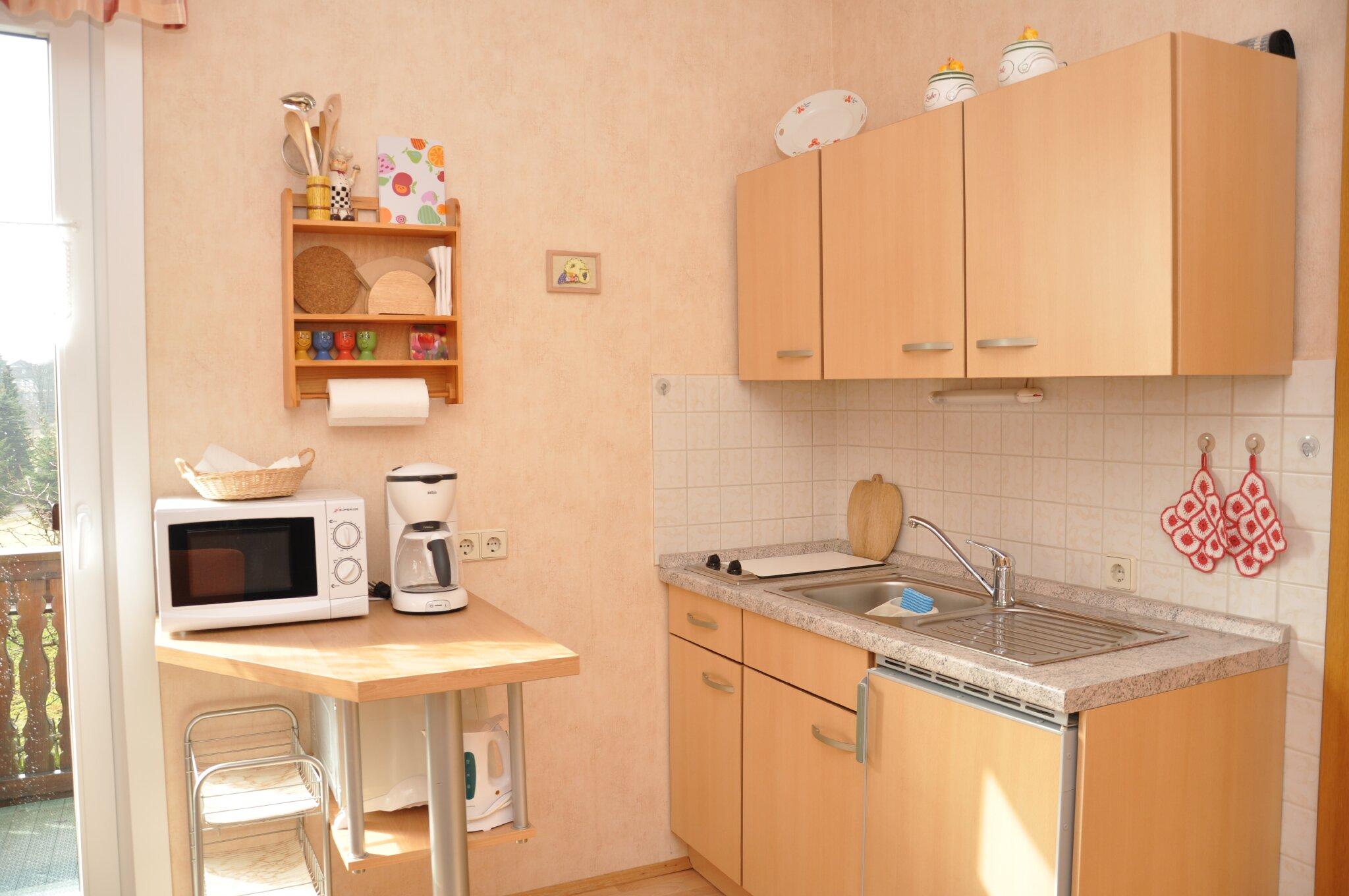 Ferienwohnung Teichblick (Küchenzeile)