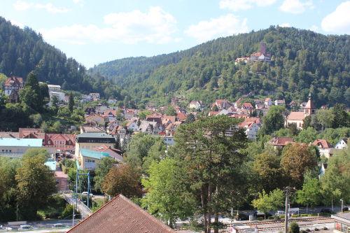 Blick auf die Bad Liebezeller Burg