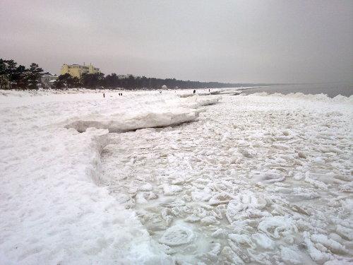 Strand im Winter 2010