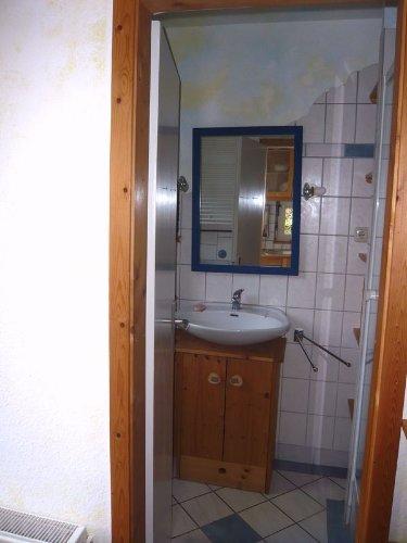 Das Bad unten mit Dusche