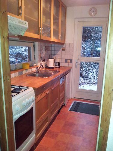 Küche und Hintereingang
