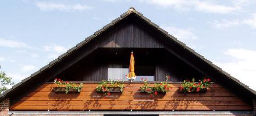 """Balkon-Loggia der Wohnung """"R�m Hart"""""""