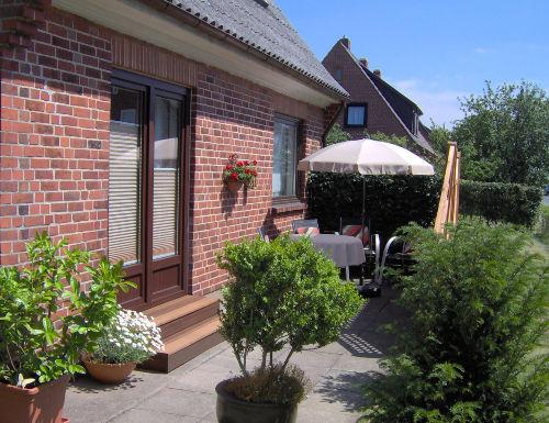 """Terrasse zur Wohnung """"Uthlande"""""""