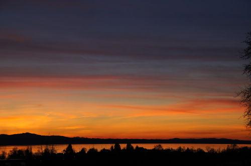 Sonnenuntergang auf der Sonnenhalde