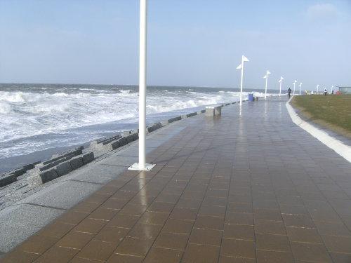 Hochwasser März 2008 - Strandpromenade