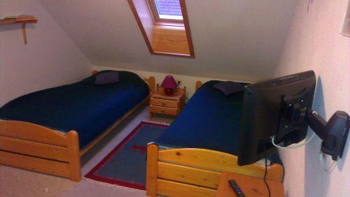 Das zweite Schlafzimmer mit TV-Satanlage
