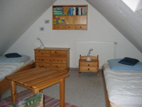 Das Schlafzimmer im Dachgeschoß