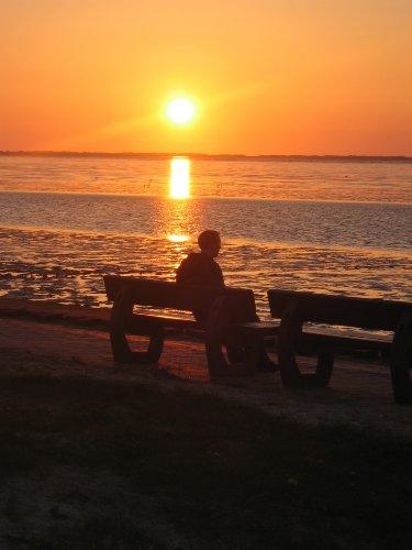 Sonnenuntergang am Neßmersieler Strand