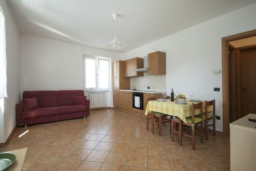 Wohnzimmer mit sofabed