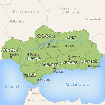 Andalusien-Karte