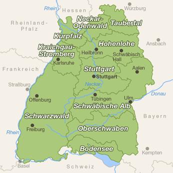 Baden-W�rttemberg-Karte