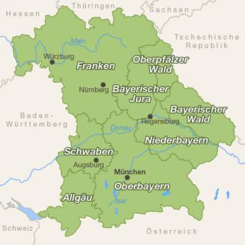 Bayern-Karte