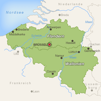 Belgien-Karte