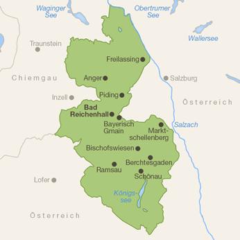Berchtesgadener Land-Karte