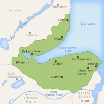 Eckernförder Bucht-Karte