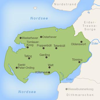 Eiderstedt-Karte