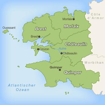 Finist�re-Karte