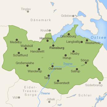 Flensburger Förde-Karte