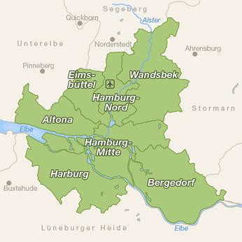 Hamburg-Karte