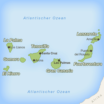 Kanarische Inseln-Karte