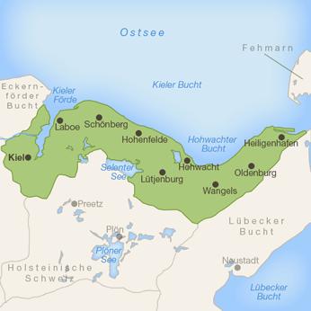 Kieler Bucht-Karte