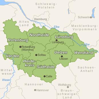 Lüneburger Heide-Karte