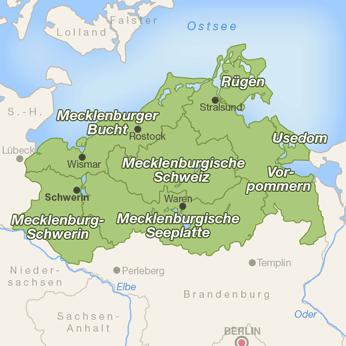 Mecklenburg-Vorpommern-Karte