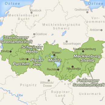Mecklenburgische Seenplatte-Karte
