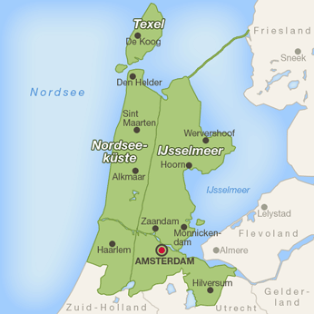 Noord-Holland-Karte