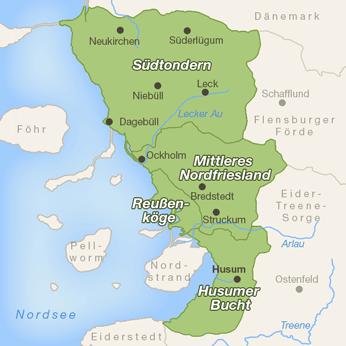 Nordfriesland-Karte