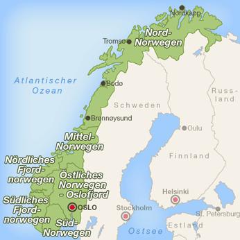 Norwegen-Karte