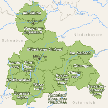 Oberbayern-Karte