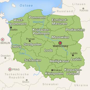 Polen-Karte